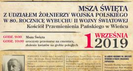 80 rocznica wybuchu II Wojny Światowej w Gminie Brześć Kujawski w Wieńcu