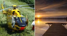 Wypadek nad jeziorem w Skępem. Mężczyzna skoczył niefortunnie na głowę do wody