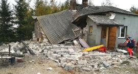 Wybuch butli z gazem zniszczył dom w Dąbrówce gmina Kikół