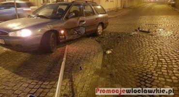 Wypadek na skrzyżowaniu Łęgskiej i Związków Zawodowych we Włocławku