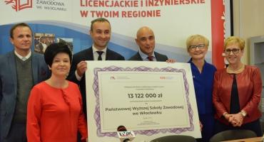 Miliony popłyną do PWSZ we Włocławku