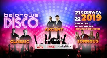Balonowe Disco 2019 pod Włocławkiem na lotnisku w Kruszynie. Mega gwiazdy na jednej scenie