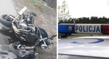 34-letni motocyklista wjechał w ogrodzenie. Został przewieziony do szpitala