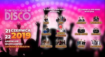 Balonowe Disco 2019 na lotnisku w Kruszynie. Plejada gwiazd i dwa dni szalonej zabawy