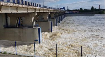 Fala powodziowa 2019 we Włocławku. Sytuacja na tamie i przystani [ ZDJĘCIA, VIDEO]