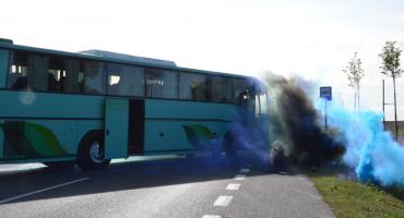 Kobra 2019 w Przydatkach Gołaszewskich Gmina Kowal. Pożar i atak terrorystyczny na autobus