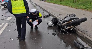 Tragiczne zderzenie motocykla z golfem w Brodnicy. Nie żyje 19-letni motocyklista